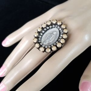 Repurposed Vintage Relic Rhinestone Ring NWT